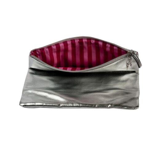 Victoria's secret silver pink bag front