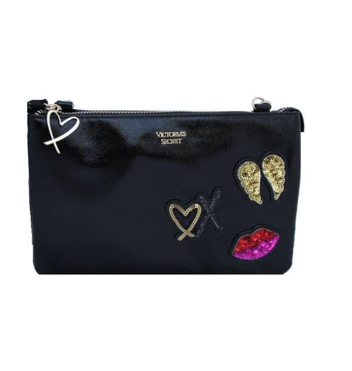 Victoria's secret black bag front blank fit size