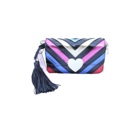 Victoria's secret colorful bag front with pompon without strip fit size
