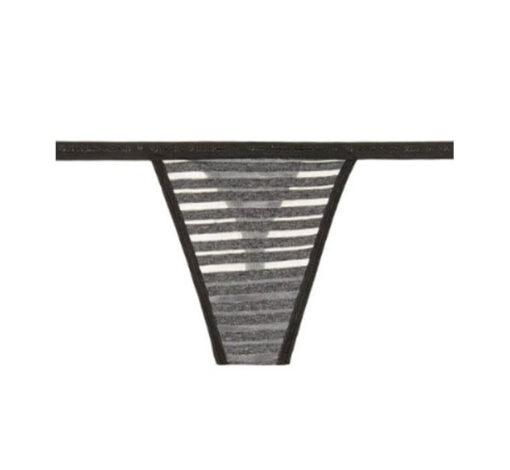 Victoria's secret grey transparent thong panty