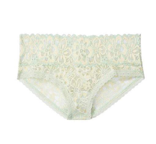 Victoria's Secret classic lace panty light green